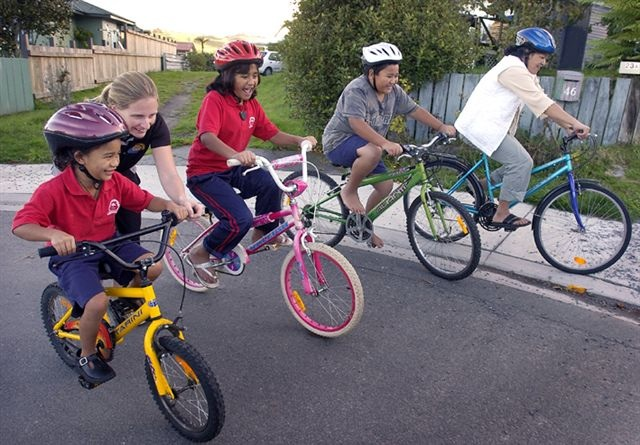 Children on Re-Cycle bikes