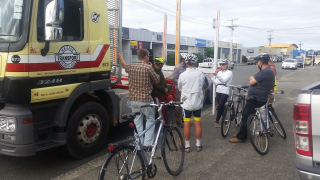 People who cycle and people who drive trucks getting to know one another: It is only when the drivers go for a ride, and when the cyclists jump up into the cab of a truck can they understand each others position.
