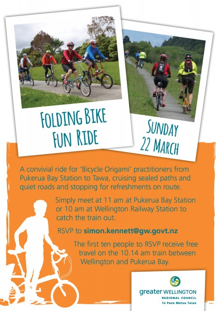 Folding bike fun ride 2015