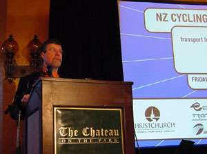 Christchurch Mayor Garry Moore opens the 2001 conference in Christchurch